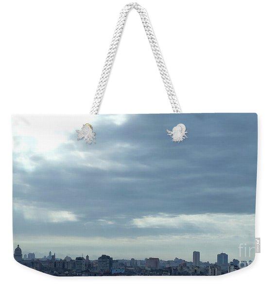 Cuba City And Skyline Art Weekender Tote Bag