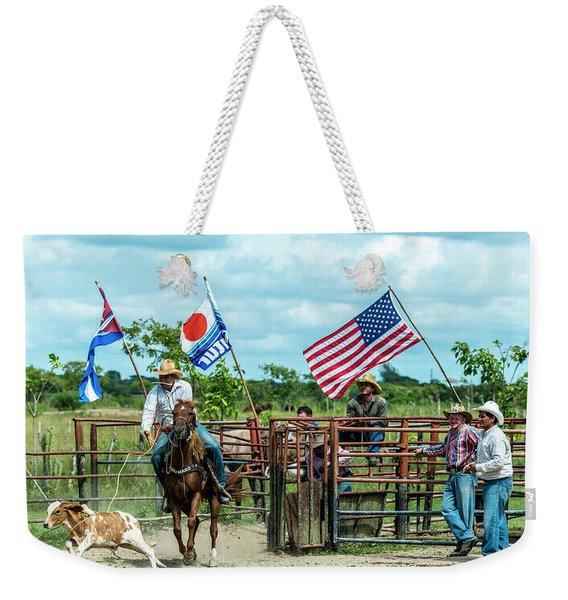 Cuban Cowboys Weekender Tote Bag