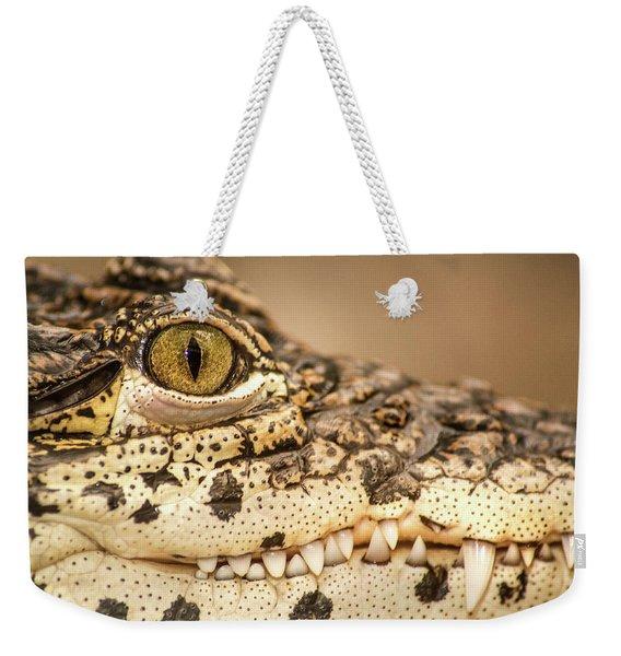 Cuban Croc Smile Weekender Tote Bag