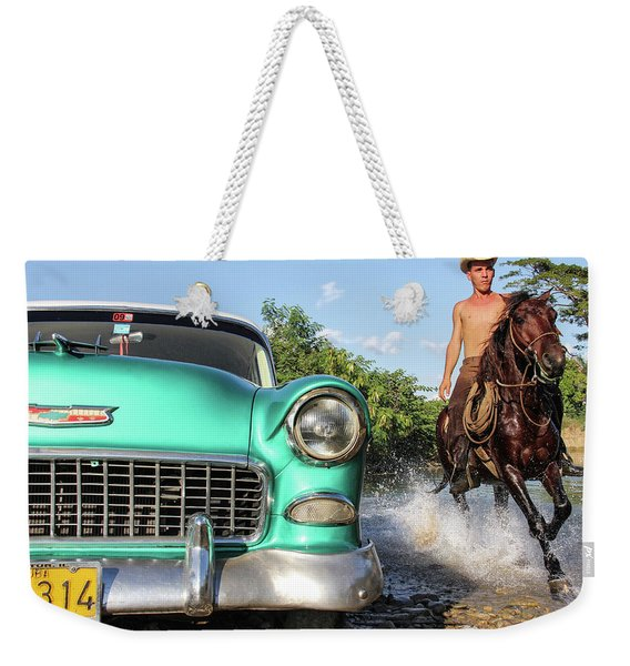 Cuban Horsepower Weekender Tote Bag