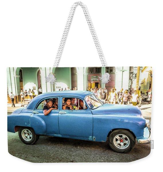 Cuban Taxi Weekender Tote Bag