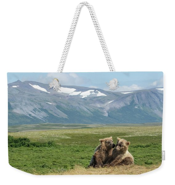 Cubs Playing On The Bluff Weekender Tote Bag