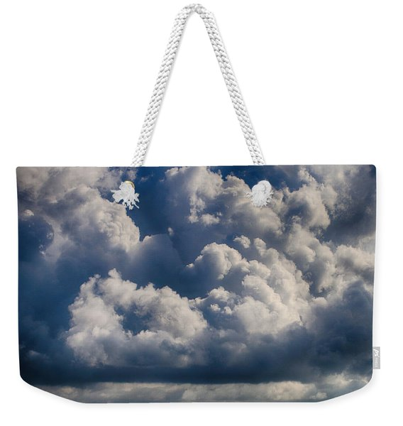 Weekender Tote Bag featuring the photograph Cumulus Over The River by William Selander