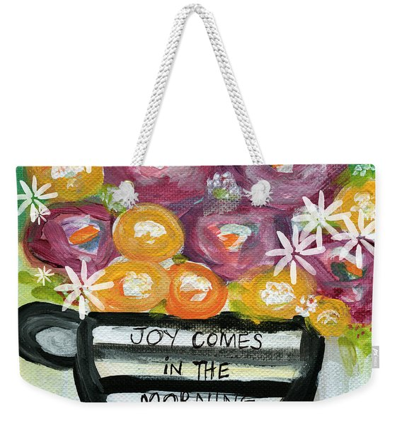 Cup Of Joy 2- Contemporary Floral Painting Weekender Tote Bag