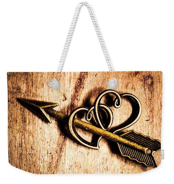 Cupid Arrow And Hearts Weekender Tote Bag