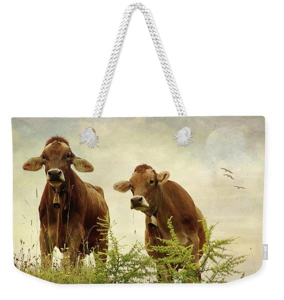 Curious Cows Weekender Tote Bag