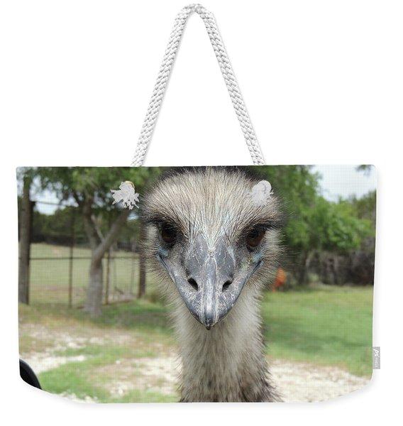 Curious Emu At Fossil Rim Weekender Tote Bag