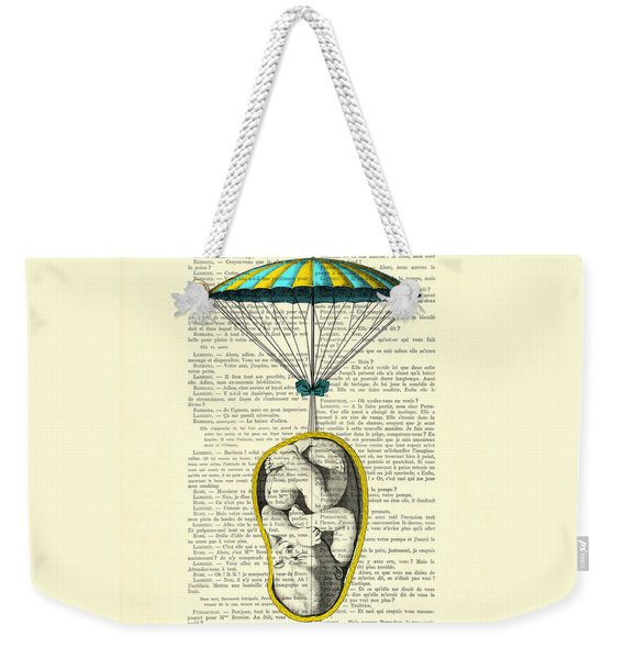 Curled Up Baby With Parachute Weekender Tote Bag