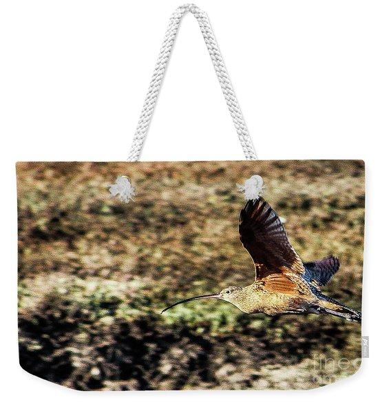 Curlew In Flight Weekender Tote Bag