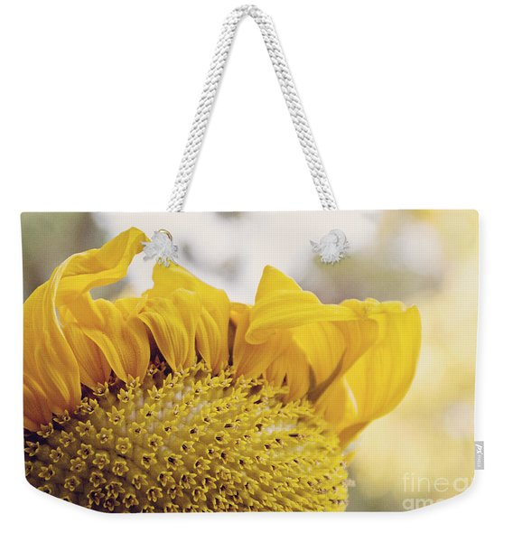 Curling Petals On Sunflower Weekender Tote Bag