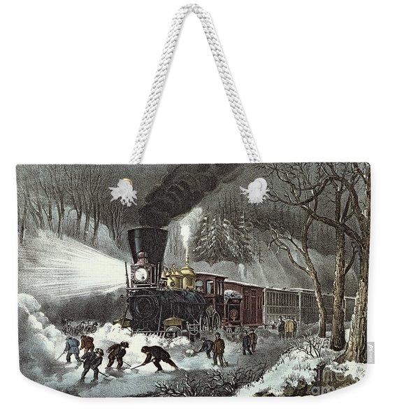 Currier And Ives Weekender Tote Bag