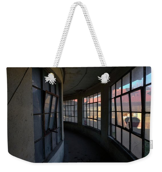 Weekender Tote Bag featuring the photograph Curved Hallway II by Tom Singleton