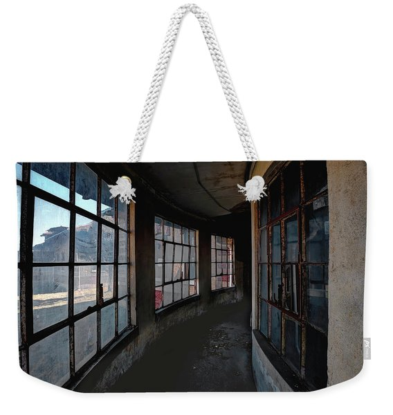 Weekender Tote Bag featuring the photograph Curved Hallway by Tom Singleton