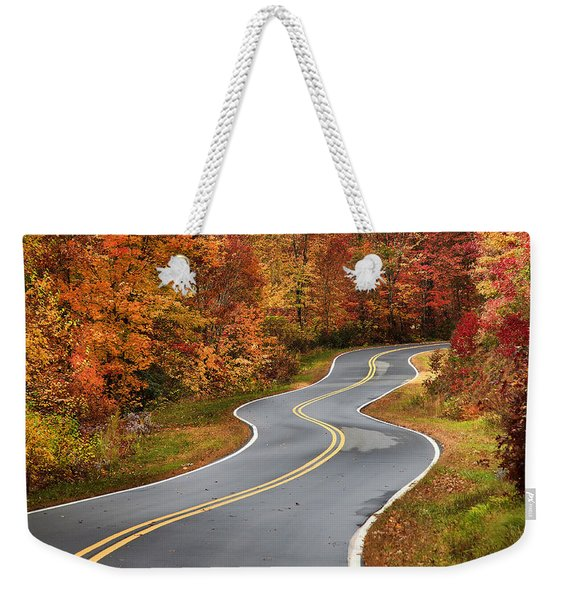 Curvy Road In The Mountains Weekender Tote Bag