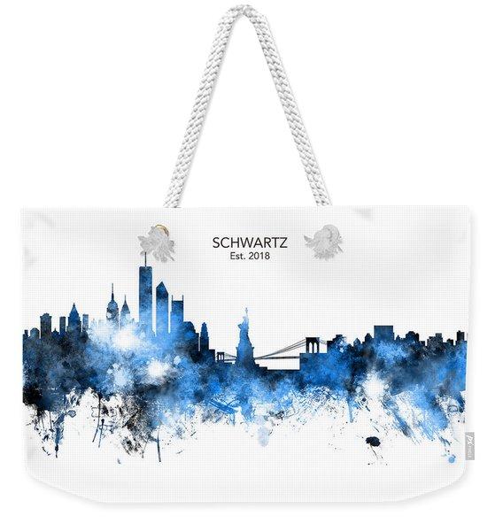Custom New York Skyline Weekender Tote Bag