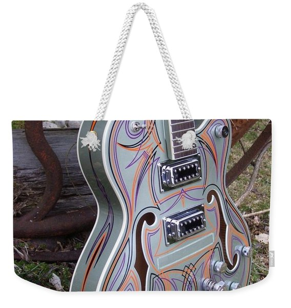 Custom Painted Giutar Weekender Tote Bag