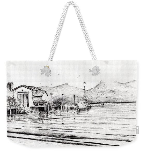 Customs Boat At Oban Weekender Tote Bag