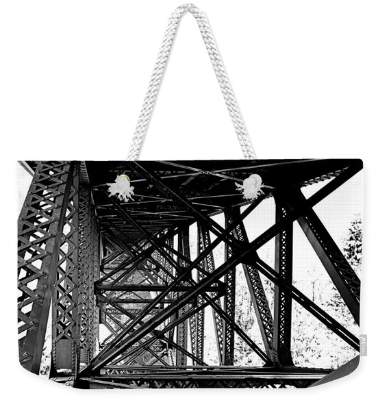 Cut River Bridge Weekender Tote Bag