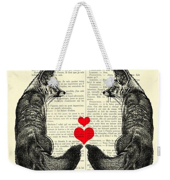 Cute Foxes Weekender Tote Bag