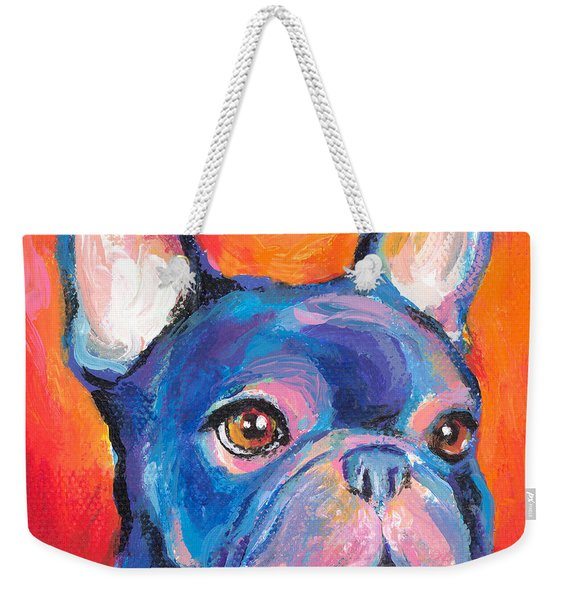 Cute French Bulldog Painting Prints Weekender Tote Bag