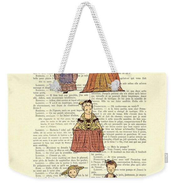 Cute Little Girls Dressed In Victorian Clothes Weekender Tote Bag