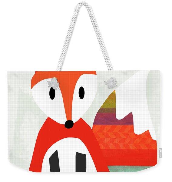 Cute Red Fox 2- Art By Linda Woods Weekender Tote Bag
