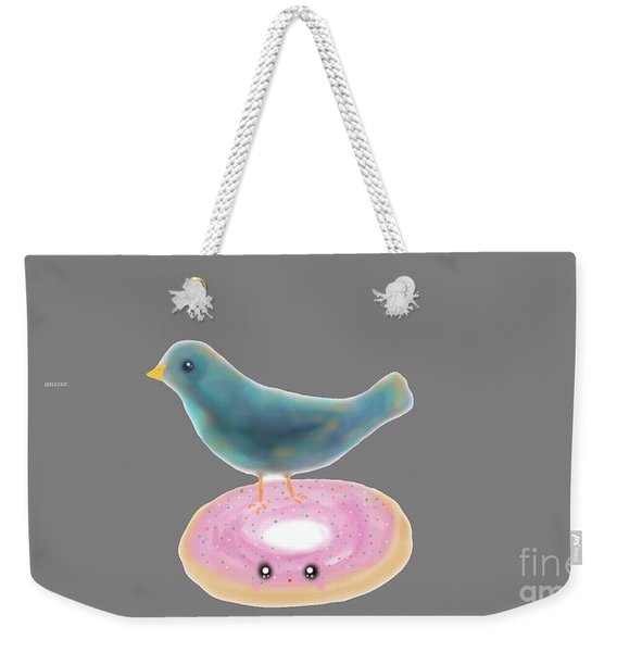 Kawaii Donut And Blue Bird  Weekender Tote Bag