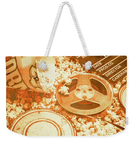 Cutting A Scene Of Vintage Film Weekender Tote Bag
