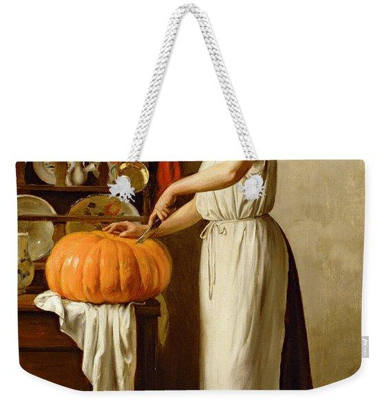 Cutting The Pumpkin Weekender Tote Bag