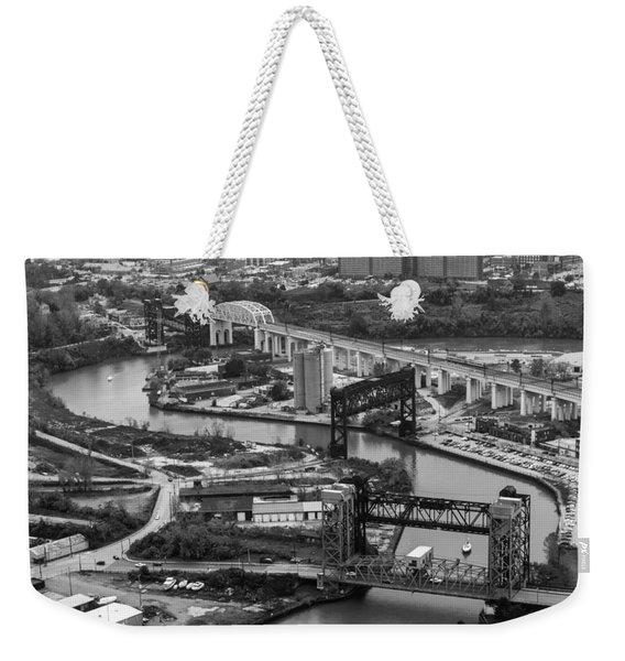 Cuyahoga River Weekender Tote Bag