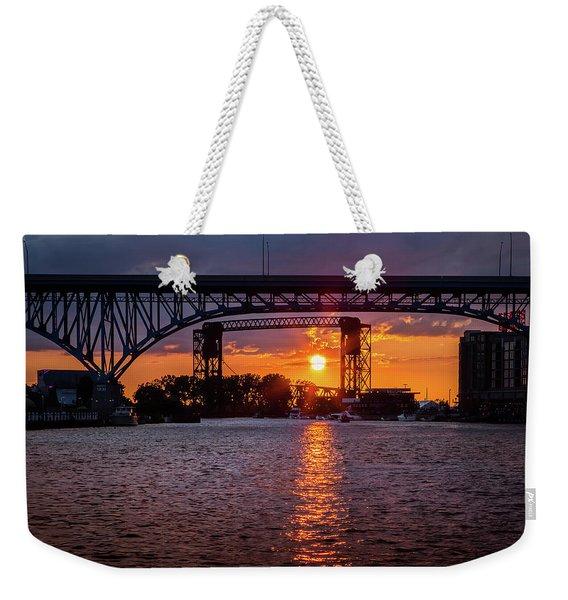 Cuyahoga Sunset Weekender Tote Bag