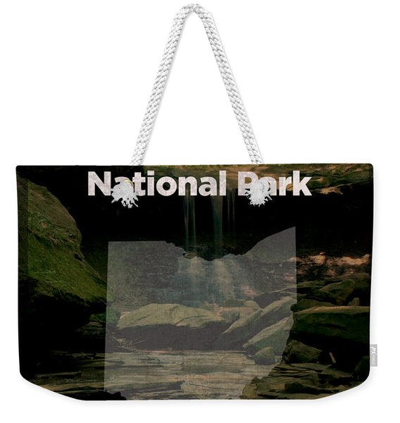 Cuyahoga Valley National Park In Ohio Travel Poster Series Of National Parks Number 18 Weekender Tote Bag