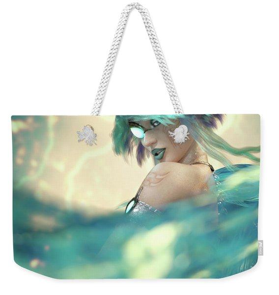 Cyan Weekender Tote Bag