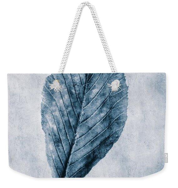 Cyanotype Leaf Weekender Tote Bag
