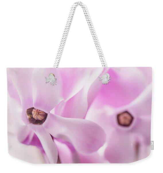Cyclamen Hearts Weekender Tote Bag