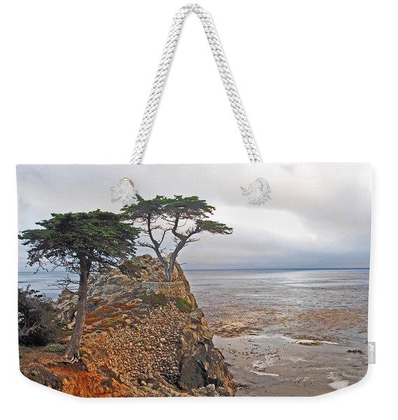 Cypress Tree At Pebble Beach Weekender Tote Bag