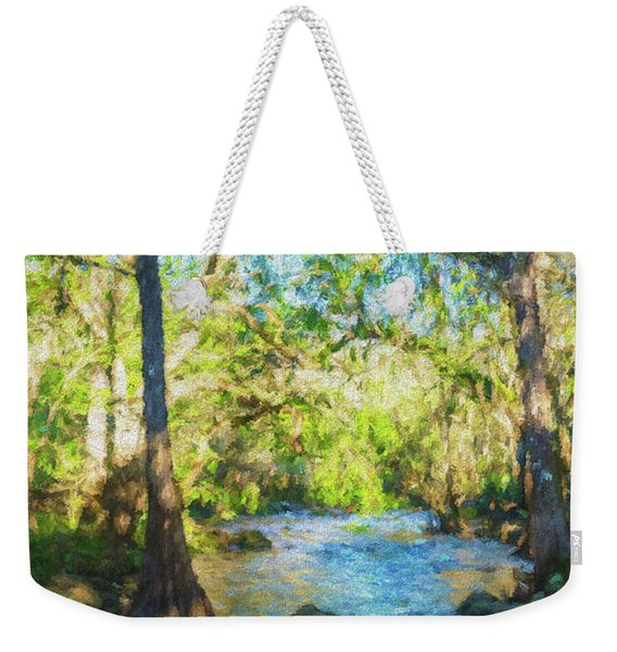 Cypress Trees On The River Weekender Tote Bag