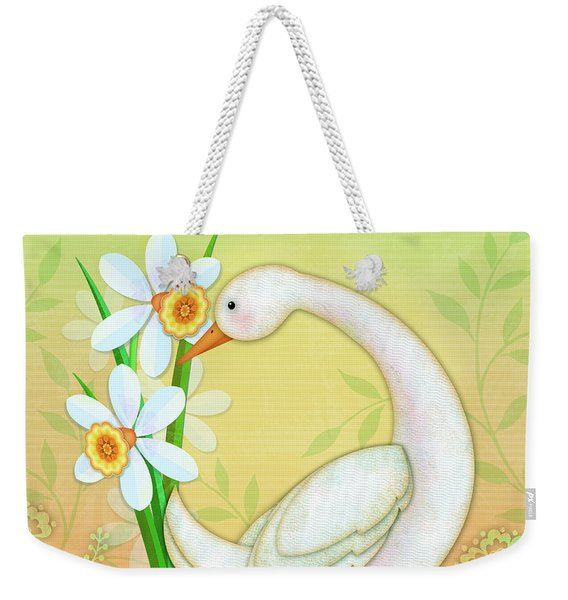 D Is For Duck And Daffodils Weekender Tote Bag