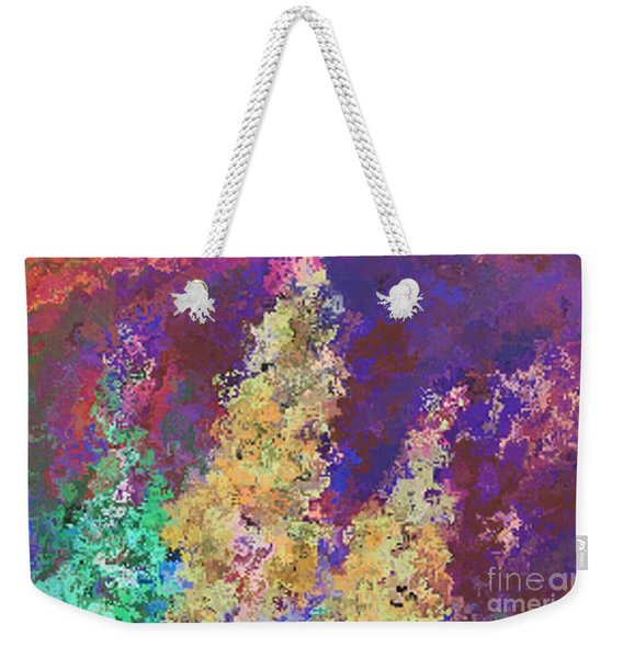 Weekender Tote Bag featuring the mixed media Dabble Flowers by Writermore Arts