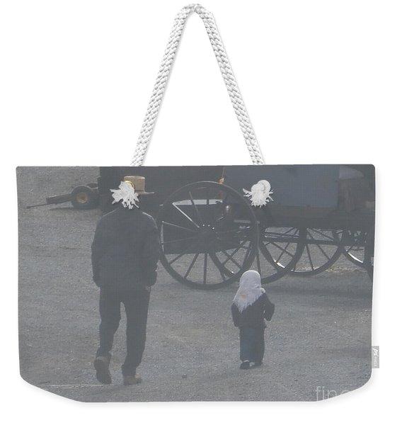 Dad And Daughter Weekender Tote Bag