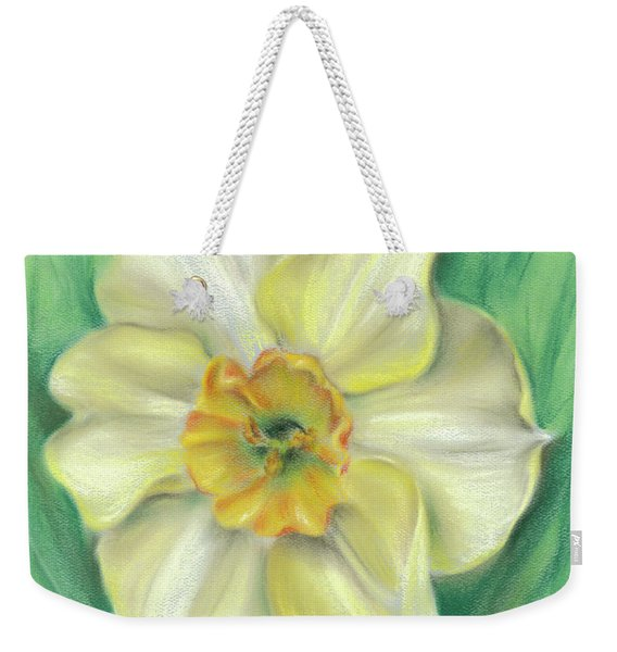 Daffodil Spring Floral Weekender Tote Bag