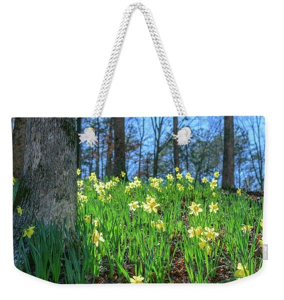 Daffodils On Hillside 2 Weekender Tote Bag
