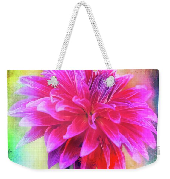 Dahlia Abstract Weekender Tote Bag