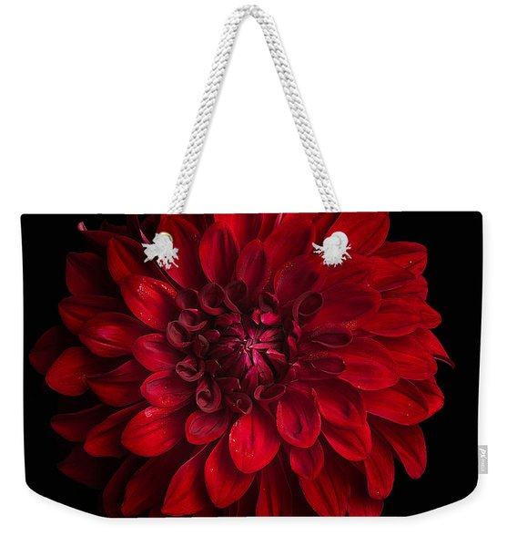 Dahlia 'american Beauty' Weekender Tote Bag