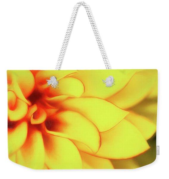 Dahlia Flower Abstract Weekender Tote Bag