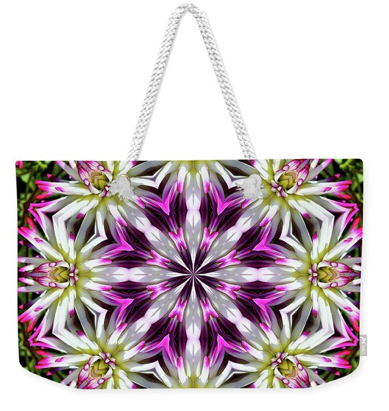 Dahlia Flower Circle Weekender Tote Bag