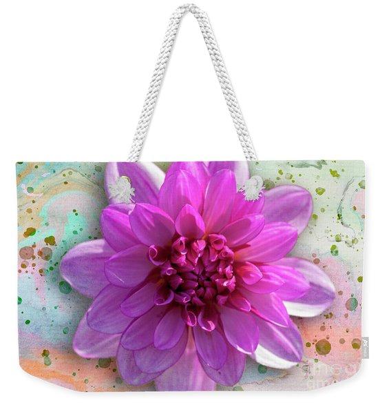Dahlia Flower Series One Weekender Tote Bag