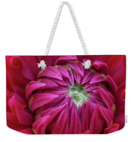 Dahlia Heart Weekender Tote Bag