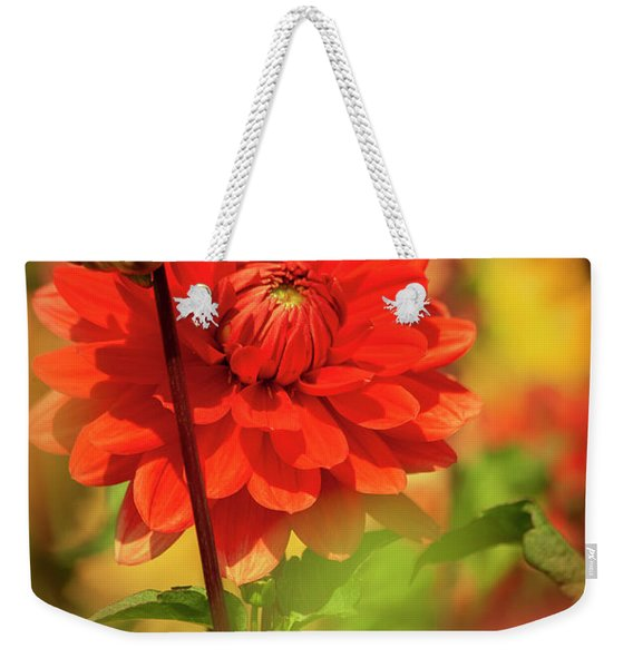 Dahlia In The Garden Weekender Tote Bag