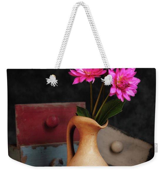 Dahlias And Drawers Weekender Tote Bag
